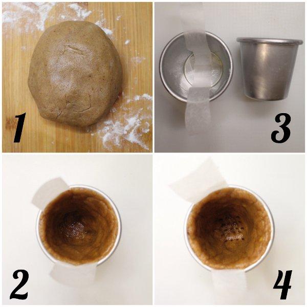 procedimento Cookie cups con crema al miele Winnie The Pooh senza uova senza lattosio