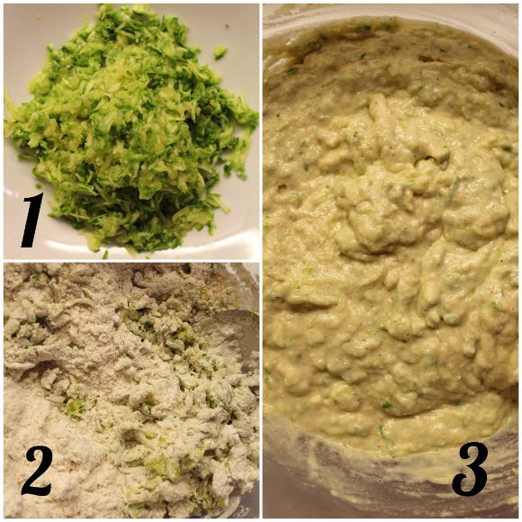 preparazione Torta salata Sheet cake alle zucchine senza uova con crema al formaggio