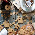Ghirlanda estiva di biscotti allo sciroppo d'acero vegana