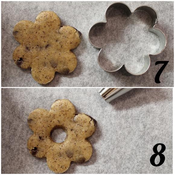 secondo procedimento per realizzare i Biscotti simil saracene vegani fatti in casa