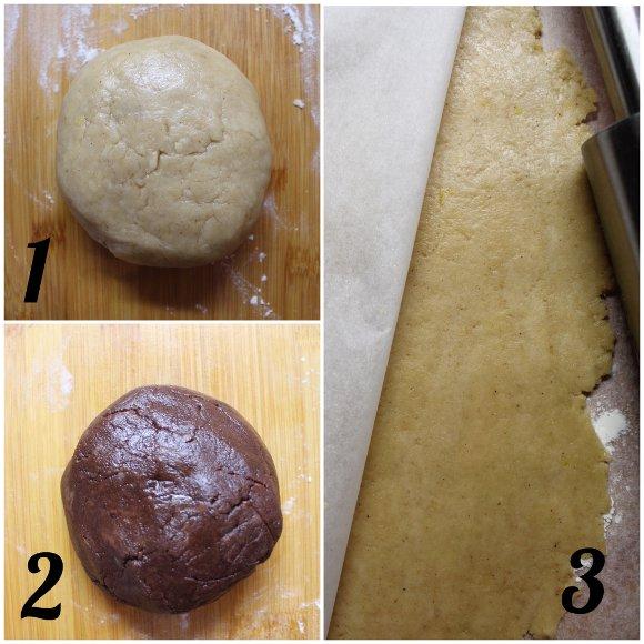 preparazione Cereali vaniglia e cacao a forma di frollini all'acqua senza uova senza burro