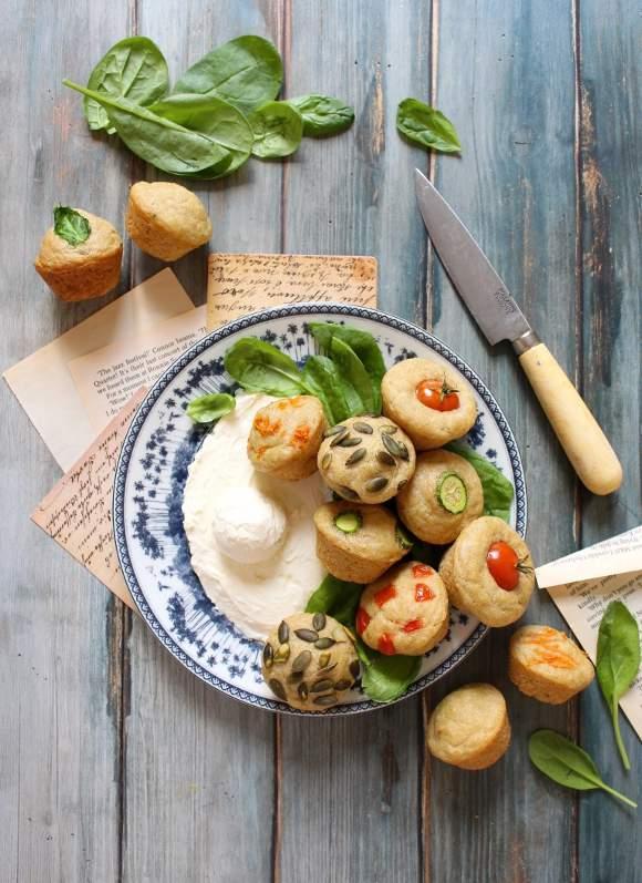 Pancake mini muffins salati senza uova
