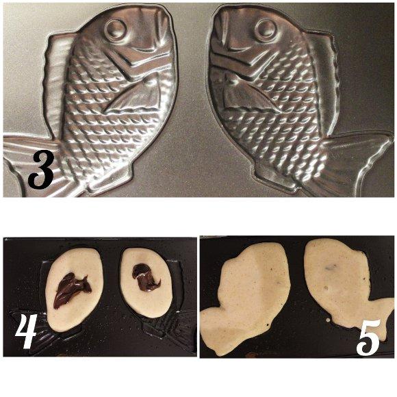 Taiyaki vegan homemade procedimento