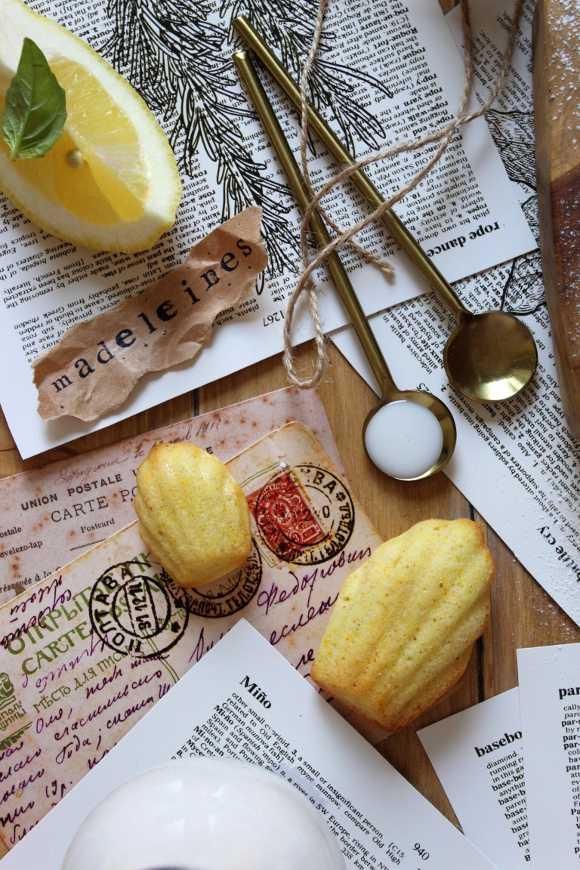 Mini Madeleine al limone e miele senza uova senza burro