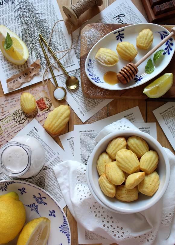 Mini Madeleine al limone senza uova senza burro