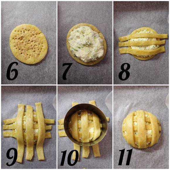 procedimento Biscotti pie cookies salati con formaggio spalmabile e zucchine all'olio evo senza burro