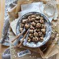 Cereali oatmeal cookies avena zucchine e gocce di cioccolato vegani