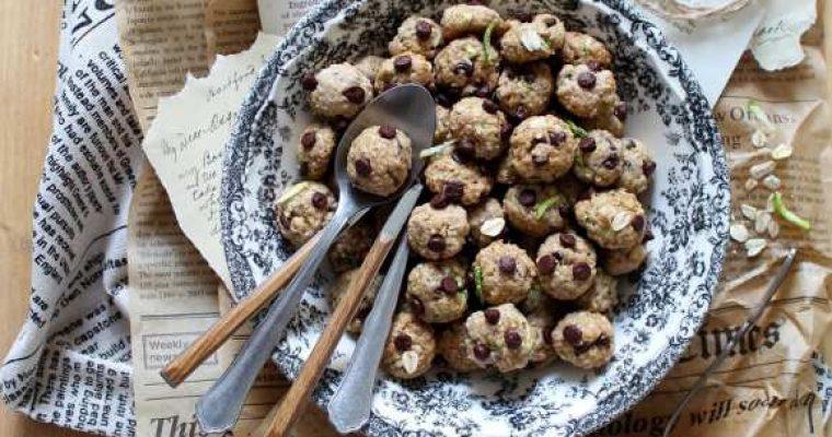 Cereali oatmeal cookies fiocchi di avena zucchine e gocce di cioccolato vegani