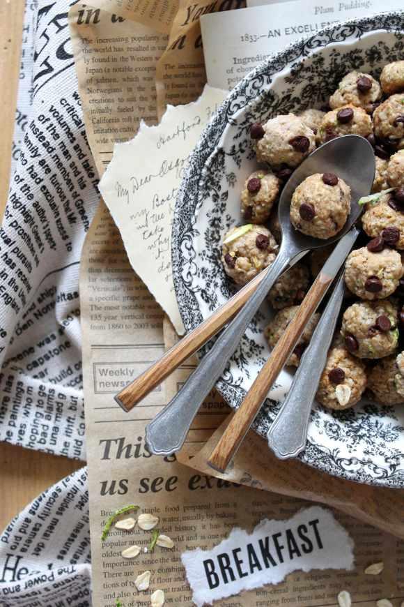 Cereali cookies avena zucchine e gocce di cioccolato vegani