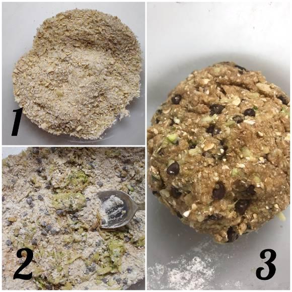 preparazione Cereali oatmeal cookies avena zucchine e gocce di cioccolato vegani