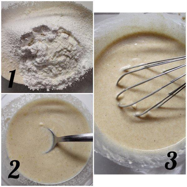 preparazione Ciambelle al forno con cioccolato bianco senza uova