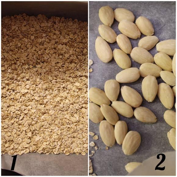 procedimento Biscotti a forma di madeleine con burro di nocciole fiocchi d'avena e mandorle senza cottura