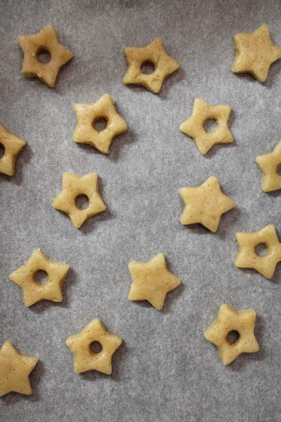 cottura Cereali caffè latte vegetale a forma di stelle senza uova