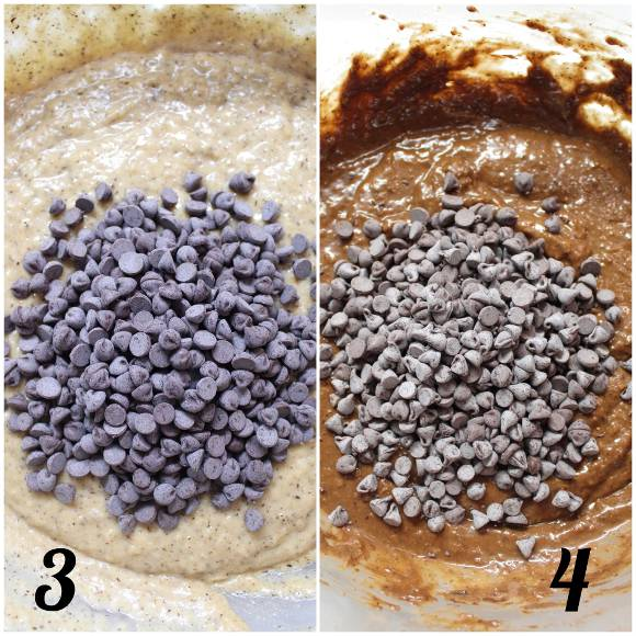 procedimento Muffins bigusto al grano saraceno cacao cocco e gocce di cioccolato senza uova senza burro