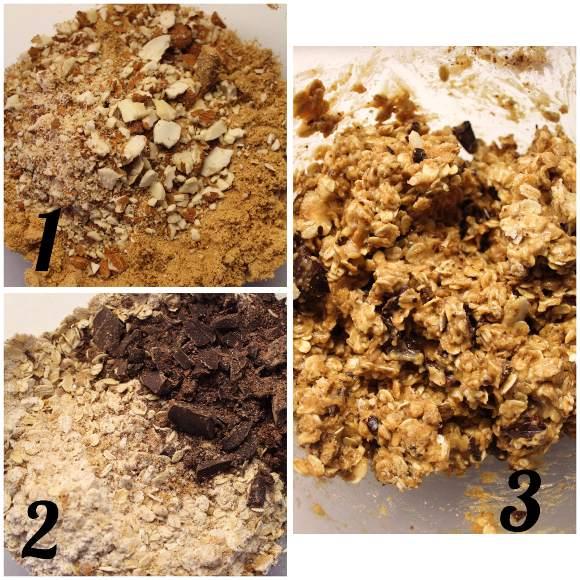 preparazione Oatmeal Cookies Biscotti fiocchi d'avena senza uova