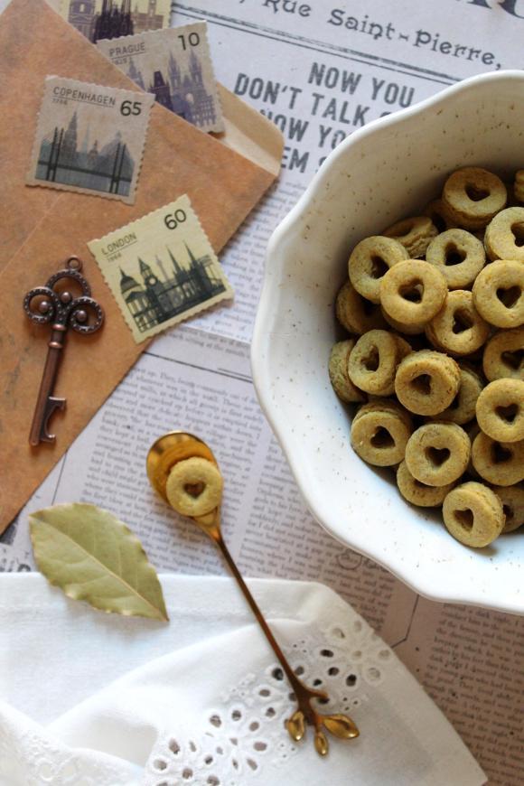 Cereali ciambelline al miele a forma di cuore