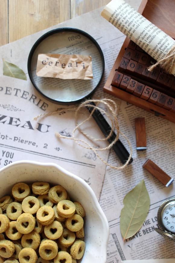 Cereali ciambelline al miele a forma di cuore simil cheerios homemade