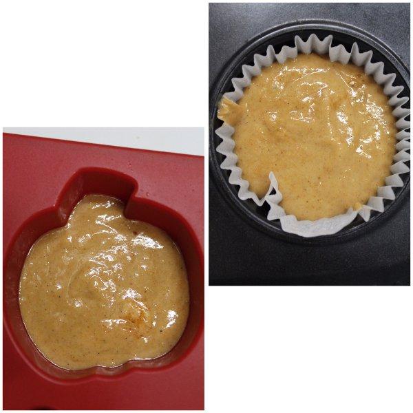 procedimento cottura Tortine alla zucca a forma di zucchette senza uova senza lattosio