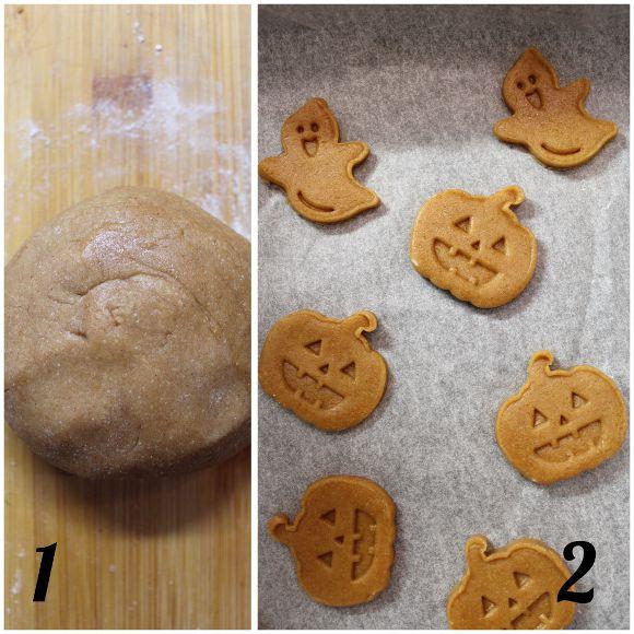 preparazione Scatola di biscotti (cookie box) di Halloween