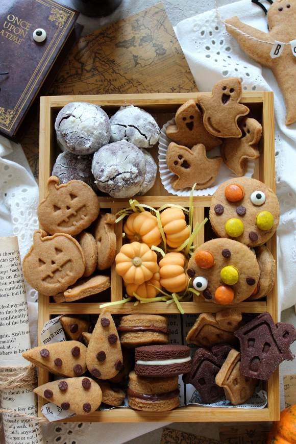 Scatola di biscotti di Halloween