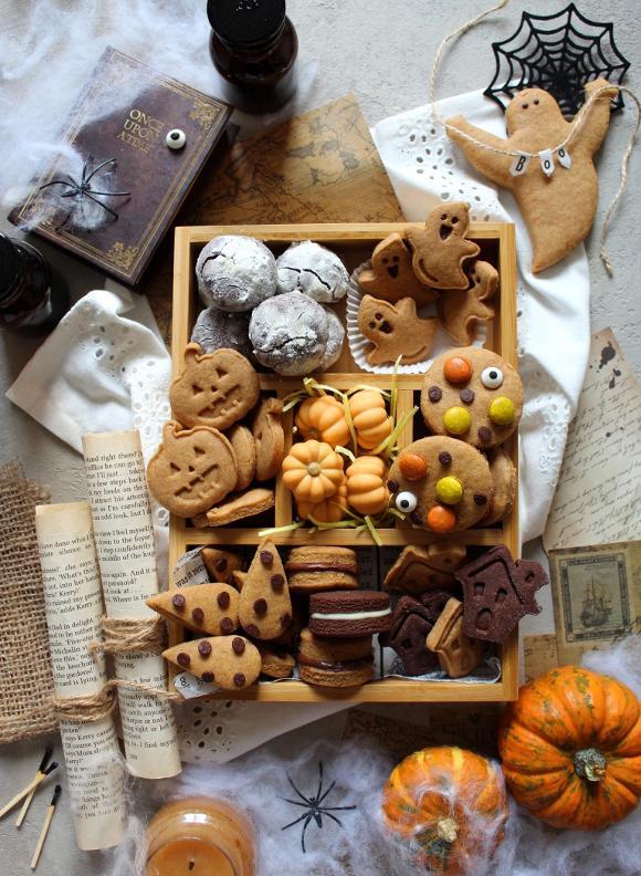 Scatola di biscotti (cookie box) di Halloween