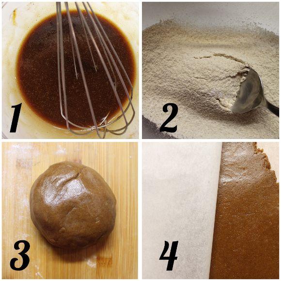 preparazione Biscotti alla melassa e cannella vegan
