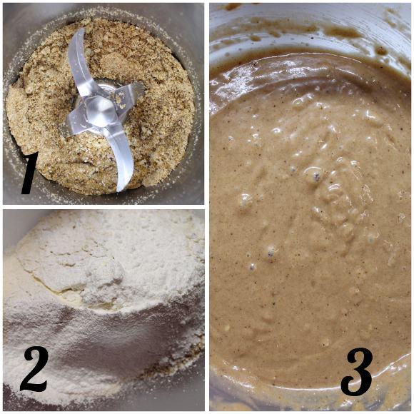 procedimento Tortine a forma di castagne con frutta secca farina di castagne cannella senza uova senza lattosio