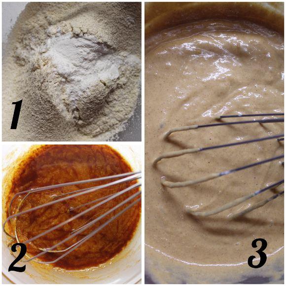 procedimento Waffles alla zucca a forma di zucchette vegani