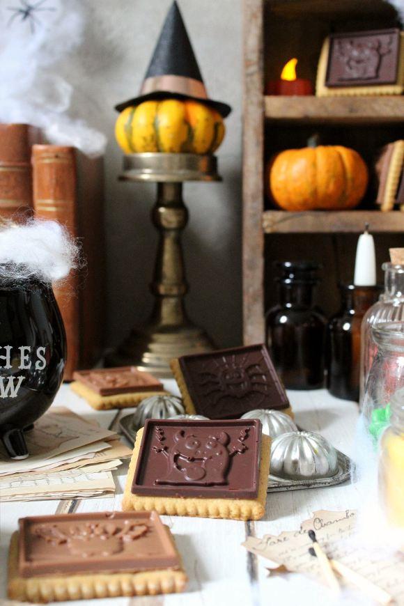 Halloween cookie choc con zucca al doppio cioccolato