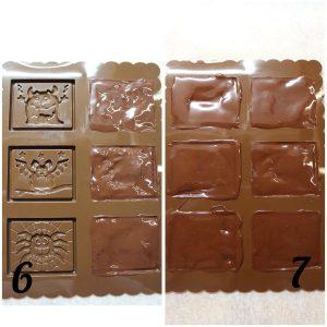 preparazione Halloween cookie choc al doppio cioccolato senza uova senza burro