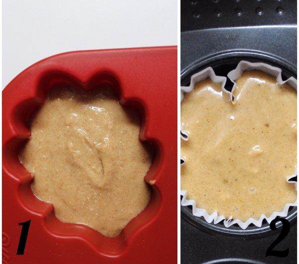 procedimenti Tortine a forma di foglie con farina di castagne e sciroppo d'acero vegan