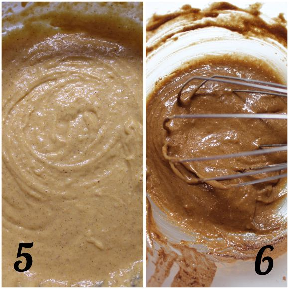procedimento Torta a forma di zucchetta con farina di castagne frutta secca e sciroppo d'acero vegan