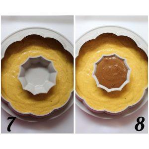 procedimento per la Torta a forma di zucchetta con farina di castagne frutta secca e sciroppo d'acero vegan