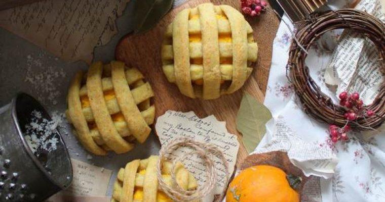 Biscotti Pie cookies salati con ripieno di zucca all'olio evo senza uova senza burro