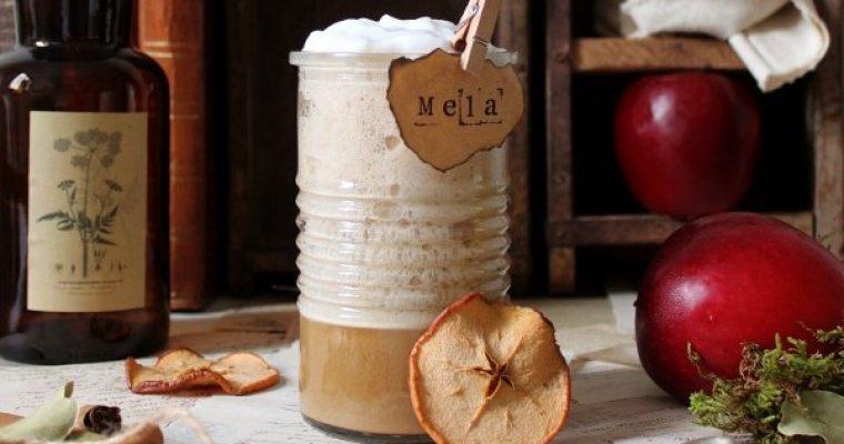 Latte alla mela speziato con purea di mela