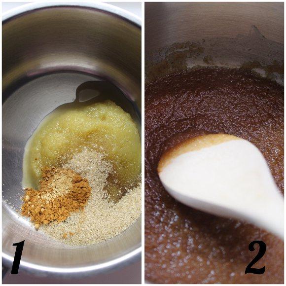 procedimento Latte alla mela speziato con purea di mela