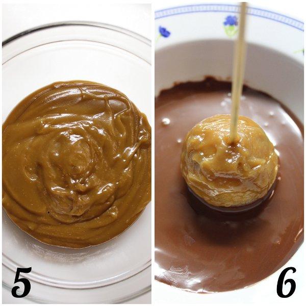 procedimento Caramel Apple cake pops: cake pop a forma di mele caramellate vegan
