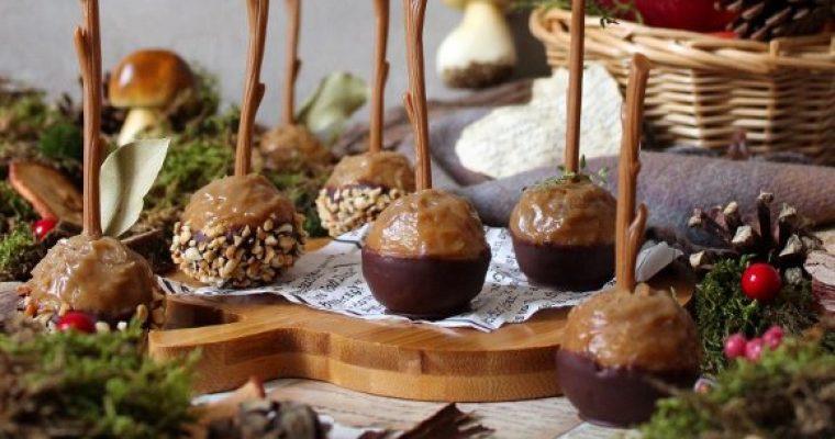 Caramel Apple cake pops: cake pop a forma di mele caramellate vegan