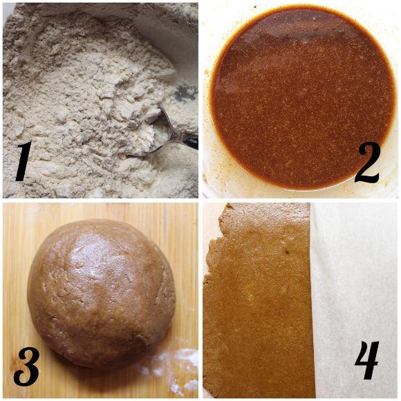preparazione Mickey mouse (Topolino) gingerbread cookies senza uova senza burro