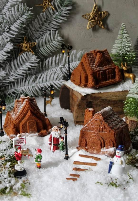 Casette gingerbread con purea di mela vegan del villaggio di Babbo Natale al Polo Nord