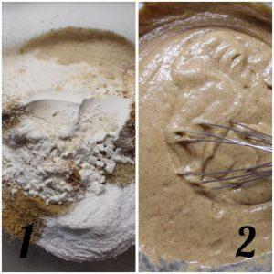 preparazione Casette gingerbread con purea di mela vegan del villaggio di Babbo Natale al Polo Nord