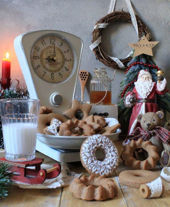 Biscotti al miele di zenzero e speziati alla cannella senza uova senza burro