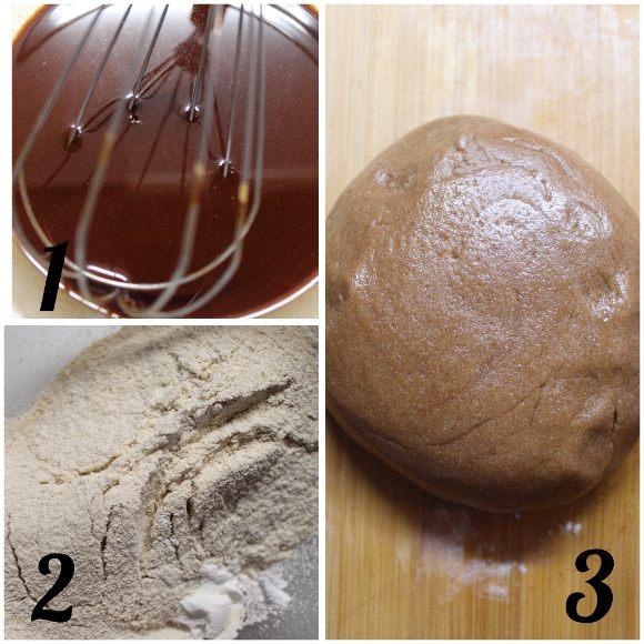 preparazione Biscotti al miele di zenzero e speziati alla cannella senza uova senza burro