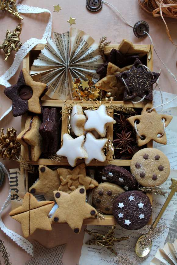 Capodanno Cookie box di stelle senza uova