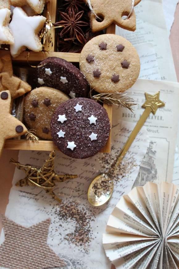 Capodanno scatola di biscotti di stelle senza uova senza burro