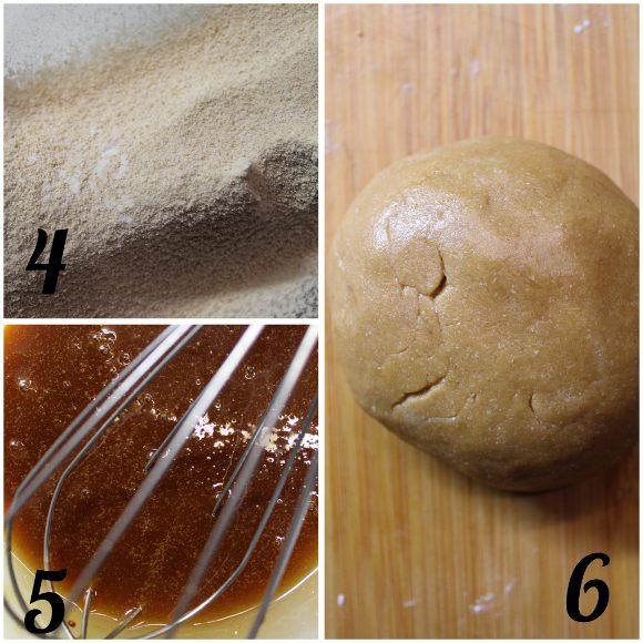 preparazione panetto melassa Capodanno Cookie box di stelle senza uova senza burro