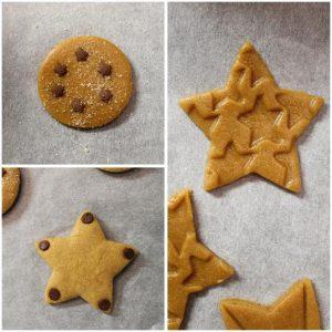cottura biscotti Capodanno Cookie box di stelle senza uova senza burro
