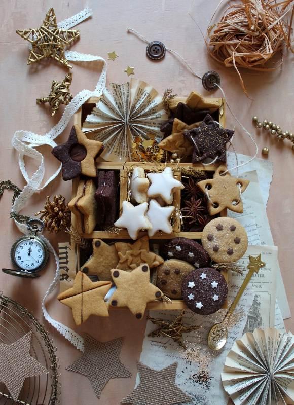 Capodanno Cookie box di stelle senza uova senza burro