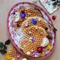 Waffles alle mandorle e cioccolato bianco senza uova