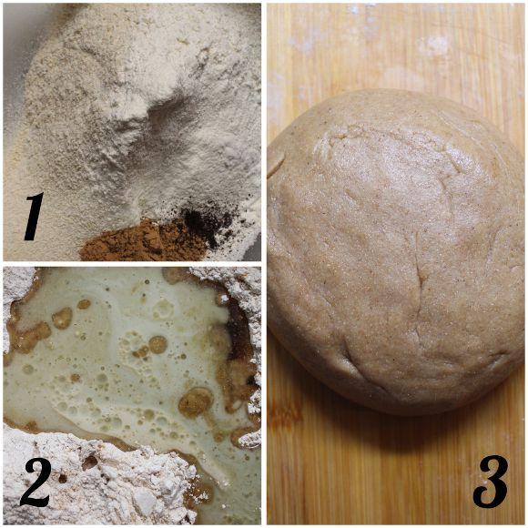 preparazione Biscottone a forma di cuore avena sciroppo d'acero e cannella vegan